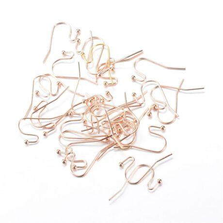 10 pár világos arany színű akasztós fülbevalóalap