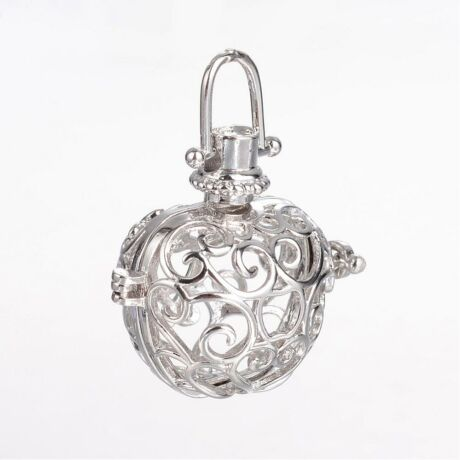 Antikolt ezüst színű angyalhívó (4)
