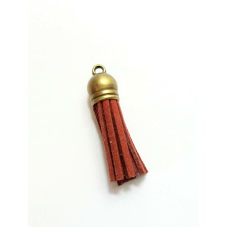Bordó színű bőrbojt (38mm)