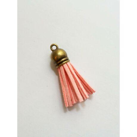 Halvány rózsaszín színű bőrbojt (38mm)