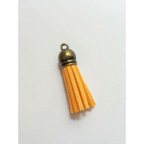 Világos narancs színű bőrbojt (38mm)