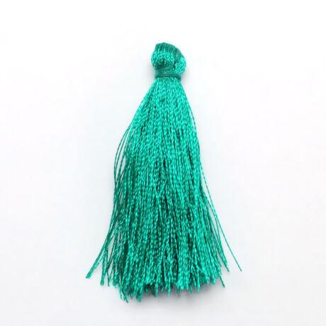 Kékes zöld színű zsinórbojt (40mm)