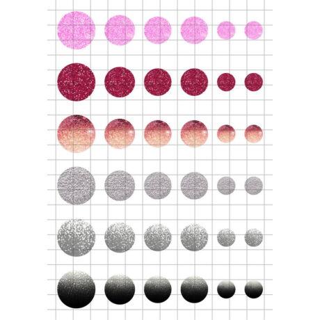 Glitter-4 Üveglencsés ékszerpapír több méret A5