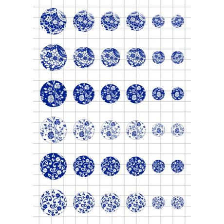 Kékfestős-3 Üveglencsés ékszerpapír több méret A5
