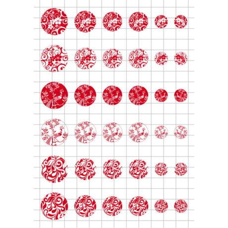 Pirosfestős-1 Üveglencsés ékszerpapír több méret A5
