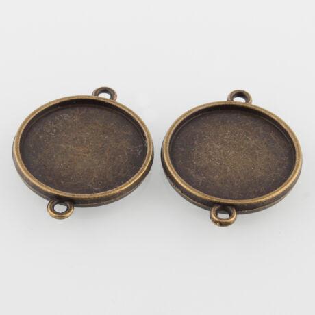 Antikolt bronz színű dupla oldalú kapcsolóelem (20mm)
