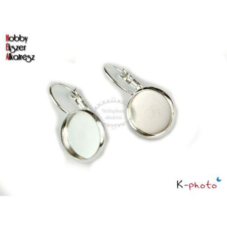 Ezüst színű franciakapcsos fülbevalóalap (14mm)