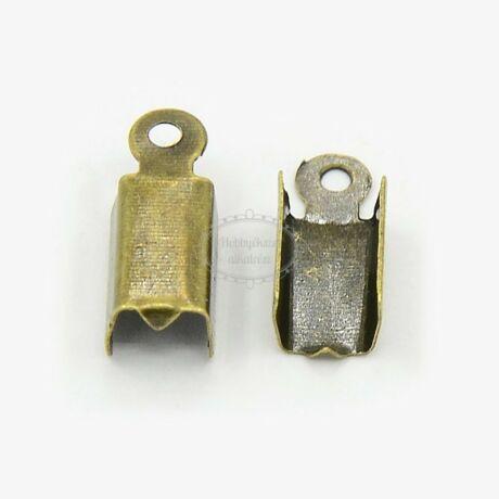 10db antikolt bronz színű bőrvégzáró (6x3mm)