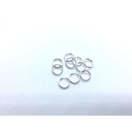 10db ezüst színű dupla vastag szerelőkarika (8mm)