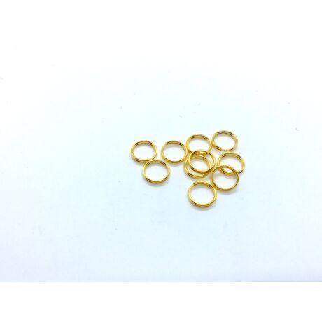 10db arany színű dupla vastag szerelőkarika (8mm)