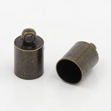 4db Antikolt bronz színű zsinórvég (10x6mm)
