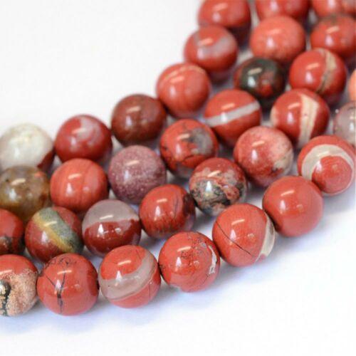 Vörös Jáspis ásványgyöngy (10mm)/1db