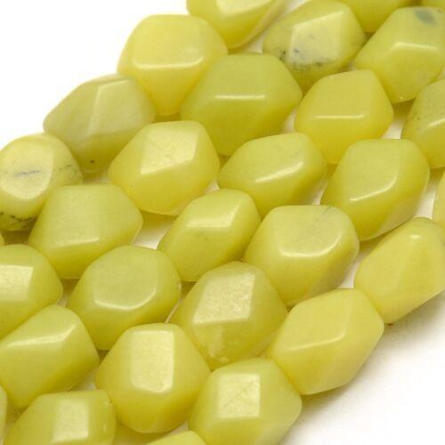 Citrom jade csiszolt ásványgyöngy/5db