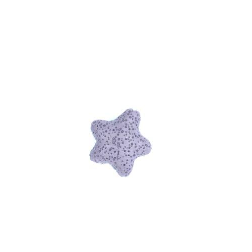 Lila lávakő csillag alakú átfúrt medál (25mm)
