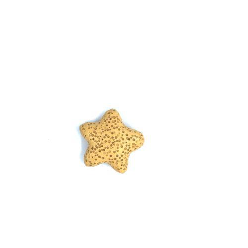 Sárga lávakő csillag alakú átfúrt medál (25mm)