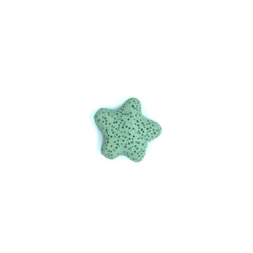 Világos zöld lávakő csillag alakú átfúrt medál (25mm)
