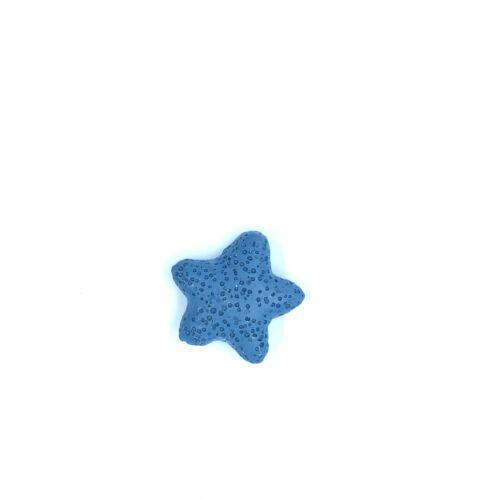 Sötét kék lávakő csillag alakú átfúrt medál (25mm)