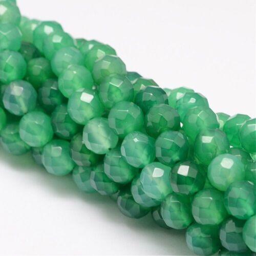 Zöld achát ásványgyöngy (8mm)/10db (színezett)