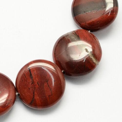Vörös jáspis lapos ásvány medál (16mm)