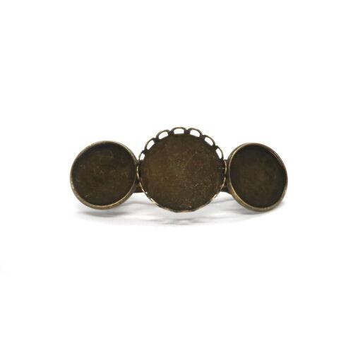 Antikolt bronz színű 3 tányéros hajcsat