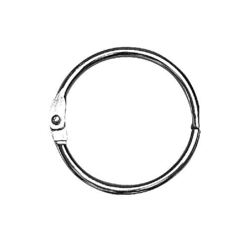 Nyitható fémgyűrű, albumkarika,nikkelmentes, 25 mm belső átm.