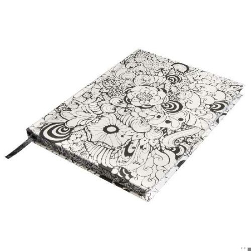 Tangle jegyzetfüzet Orchid, fehér, 15,9x20,9cm, 160 lap,