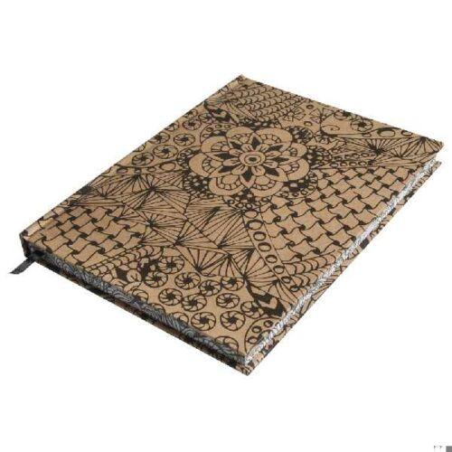 Tangle jegyzetfüzet Cameo, kraft, 15,9x20,9cm, 160 lap