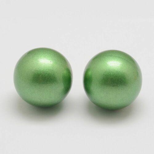 Angyalhívóba való csengő metál zöld színű golyó (18mm)
