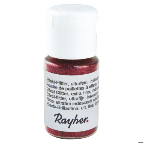 Effekt-Flitter, ultra finom, irizáló cseresznye piros, 10 ml