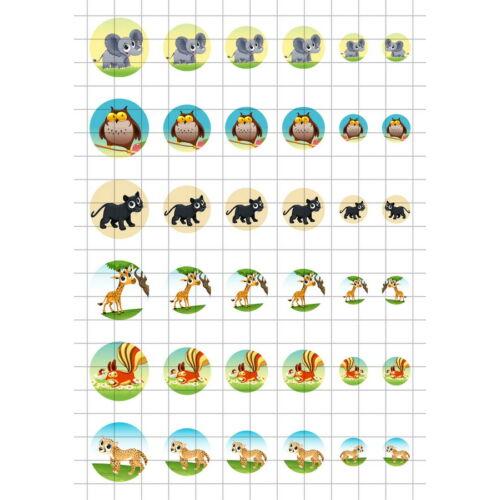 Állatok-7 Üveglencsés ékszerpapír több méret A5