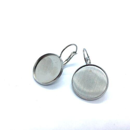 Nemesacél franciakapcsos fülbevaló alap (18mm)