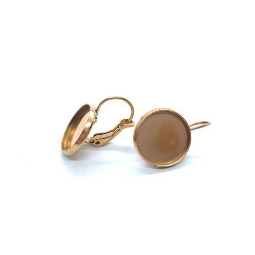 Rozé arany színű nemesacél kapcsos fülbevalóalap (12mm)