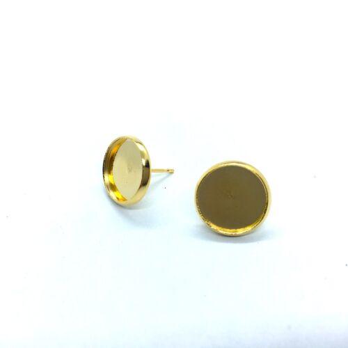 Arany színű nemesacél bedugós fülbevalóalap (12mm)