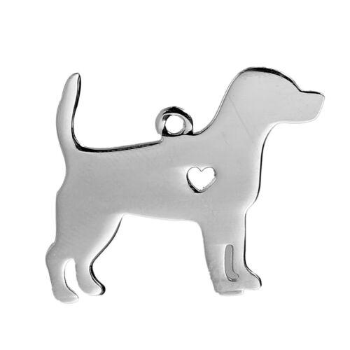 Nemesacél gravírozható beagle alakú medál