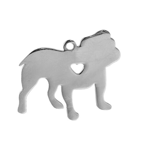Nemesacél gravírozható bulldog alakú medál