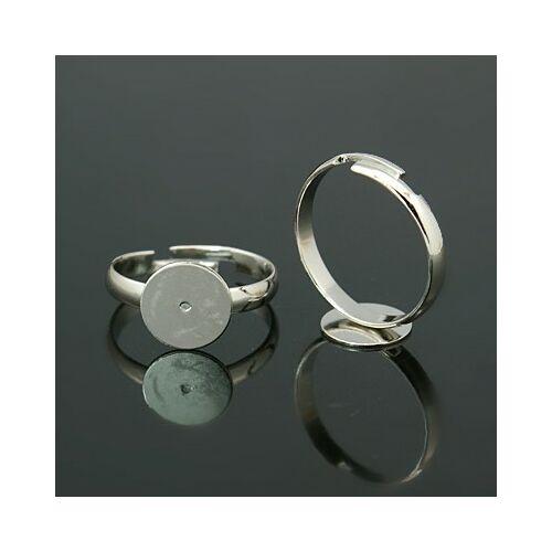 Antikolt ezüst színű gyerek gyűrűalap