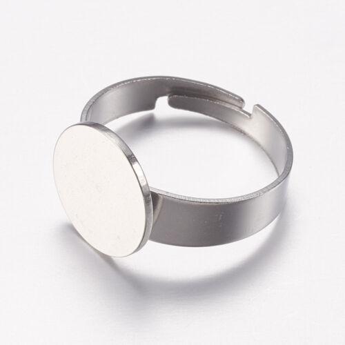 Nemesacél ragasztható gyűrűralap (12mm)
