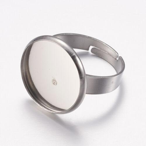 Nemesacél tányéros gyűrűralap (16mm)