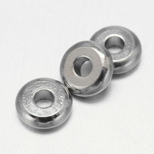 10db Antikolt ezüst fánk alakú köztes (5x2mm)