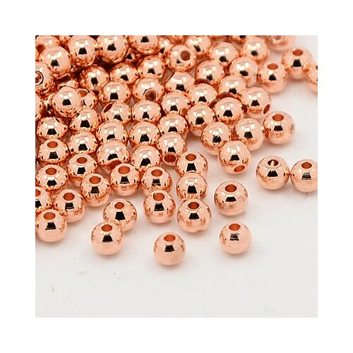 10db Rozé arany színű golyó alakú köztes (4mm)
