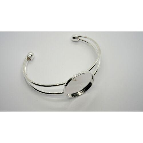 Ezüst színű karkötőalap (25mm)