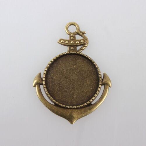 Antikolt bronz színű vasmacska medálalap (25mm)