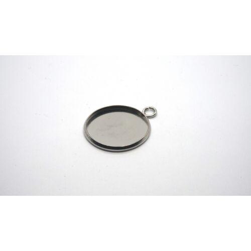Nemesacél medálalap (25mm)