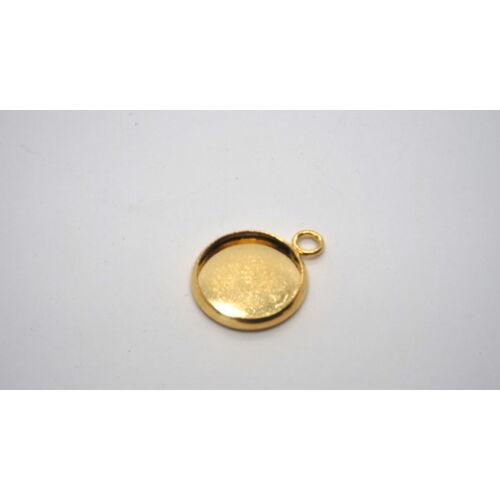 Arany színű nemesacél medálalap (25mm)
