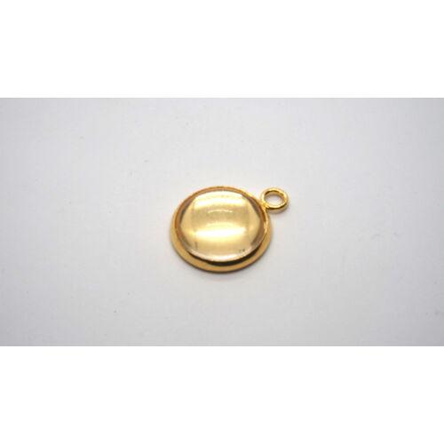 Arany színű nemesacél medálalap (25mm) hozzá tartozó üveglencsével