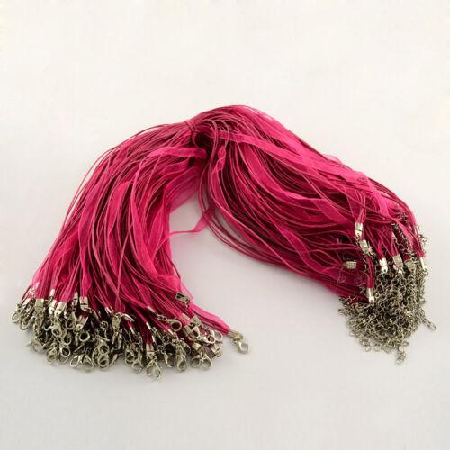 Pink színű organza nyaklánc
