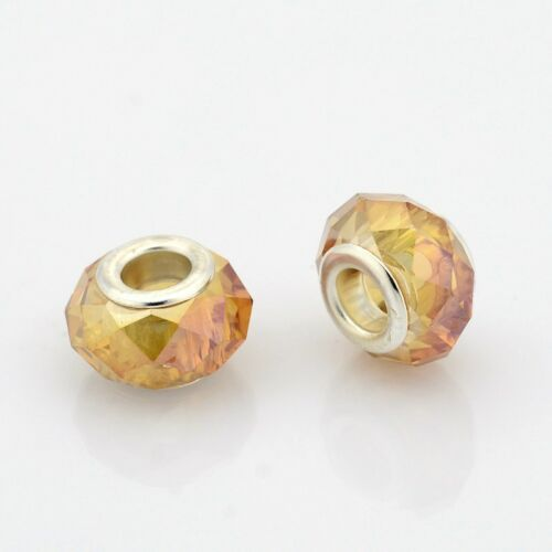 Arany színű pandora stílusú gyöngy (14x9mm)