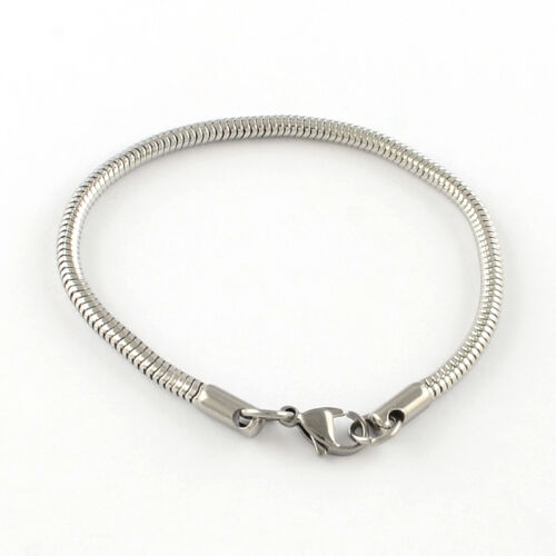 Nemesacél karkötő pandora gyöngyökhöz (18,5cm)