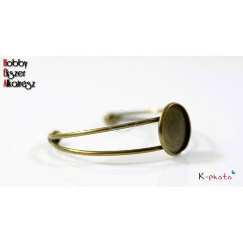 Antikolt bronz színű karperecalap (20mm)