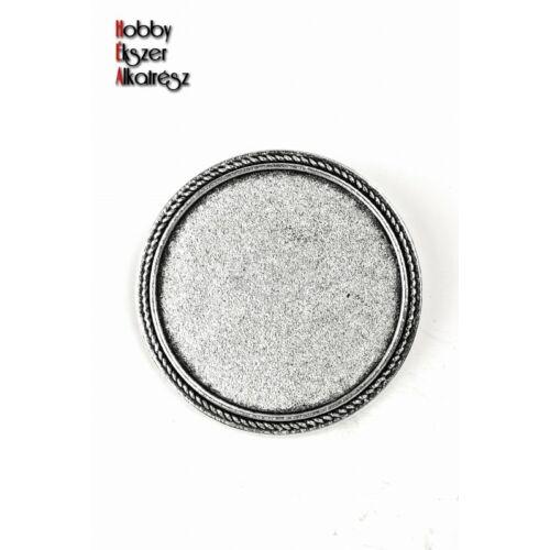 Antikolt ezüst színű kitűzőalap (30mm)